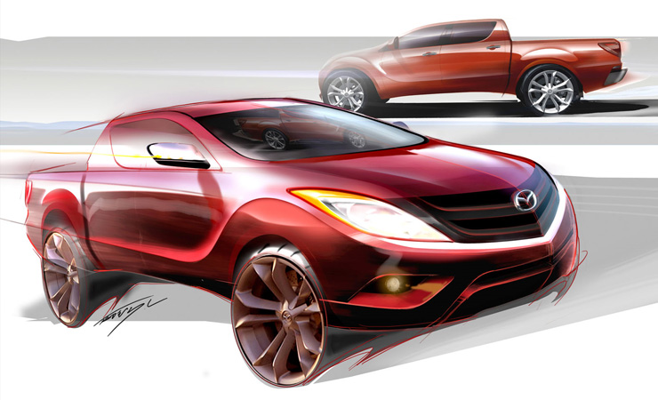 Mazda BT-50 sketch image in 2011 from headlightmag.com