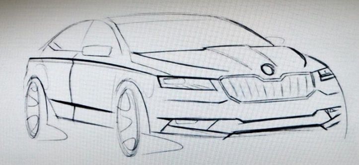 ภาพสเก็ตของ Skoda Superb ที่กำลังจะเปิดตัวในไม่ช้าแล้ว จาก headlightmag.com