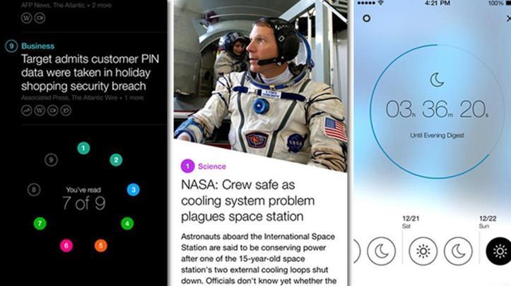 Yahoo! News Digest screen shots