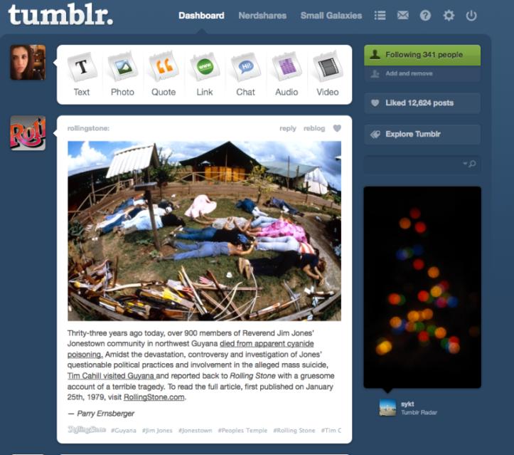 Tumblr screen shot